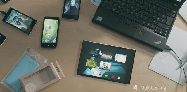 Jolla tablet on desk